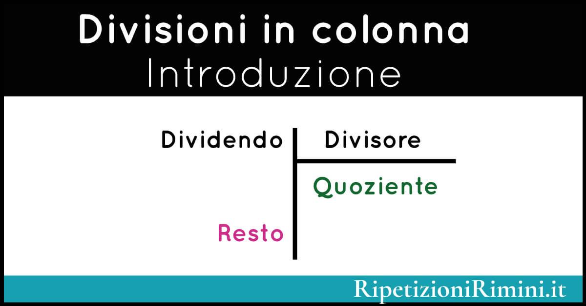 Come si fanno le divisioni in colonna