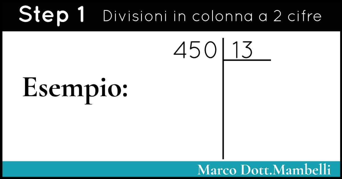 Divisioni in colonna a due cifre